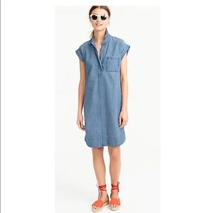 Versatile J. Crew Denim Chambray Dress Medium